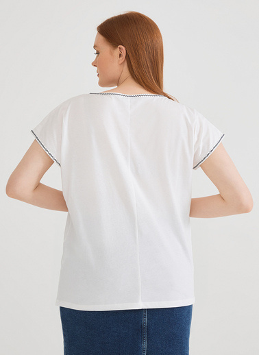Love My Body Bluz Beyaz